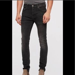 AllSaints denim cigarette skinny fit w28 L43